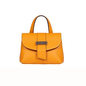 charlotte borsa a mano in pelle arancione