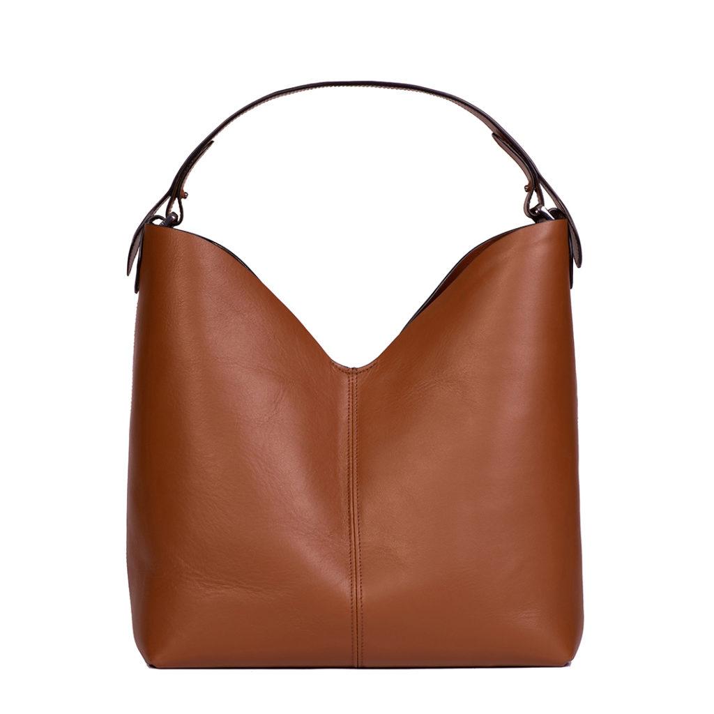 joelle borsa tote in pelle marrone