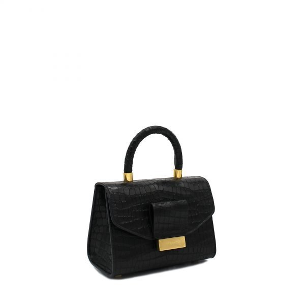 ANGIE CO SMALL LAM BLACK laterale