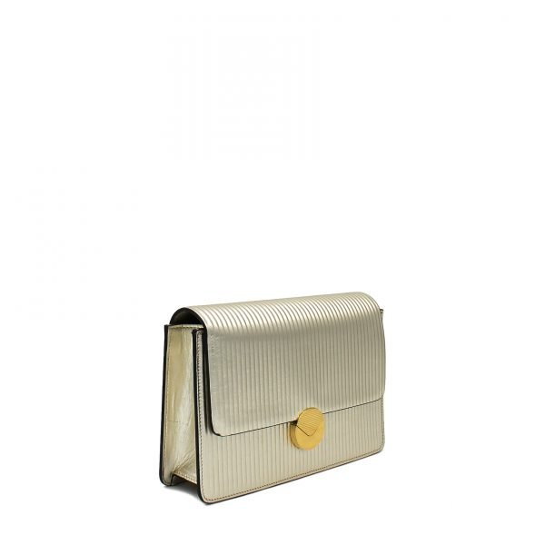 LIZZY ST BIG LAM. LIGHT GOLD LATERALE