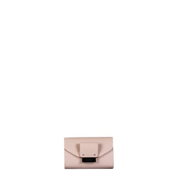 mila borsa a spalla in pelle con stampa struzzo nude piccola fronte