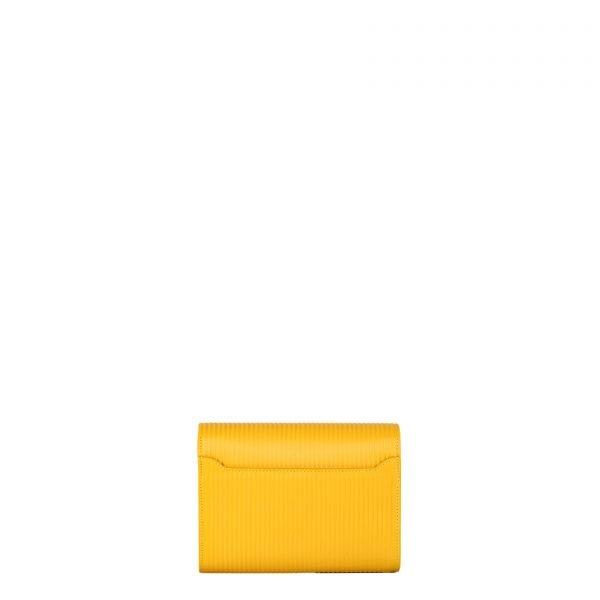 mila borsa a spalla in pelle con trama a rilievo yellow grande retro